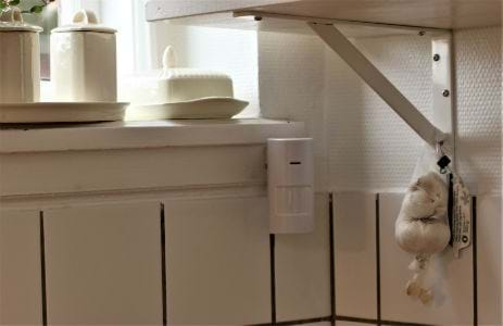 Alerto Safety Alarm System is discretely installed in the home